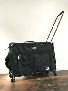 Black TUTTO Scrapbooking SEWING Large ROLLING CASE Wheels LUGGAGE Craft STORAGE $75.00