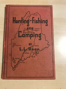 1944 Vintage LL BEAN Book Hunting Fishing and Camping Maine 5th Edition