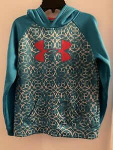 Girls Youth Under Armour Hoodie Hooded Sweatshirt Size Large $19.99