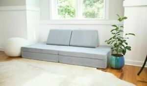 🐨Nugget Comfort Kids Couch Koala A Calm Cool Grey IN HAND FREE SHIPPING🐨