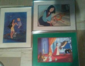 Disney lithographs lot of 3 with frames .exclusive commemorative lithographs. $48.00