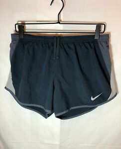 Nike Womens L Dri Fit Athletic Running Shorts Gray Size Large $14.75