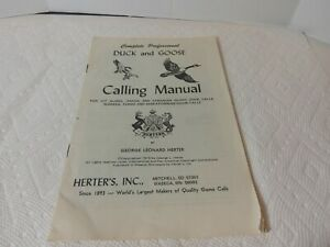 Herter#x27;s Duck and Goose Calling Manual 1975 By George Leonard Herter