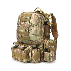 56L Tactical Military Molle Camping Backpack Camping Hiking Travel Bag New