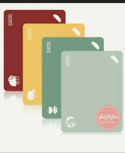 Epare Cutting Board Set Of 4 color coded bpa free FabFitFun New $9.99
