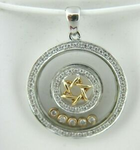Star of David Floating Diamond Pendant 18k White amp; Rose Gold DIA 0.40 Tcw.