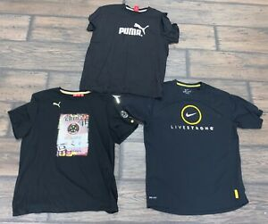 Lot of 3 Puma Nike Shirts SZ Large $19.61