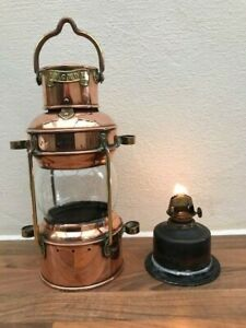 ANTIQUE SHIPS LIGHT. ANCHOR LANTERN. BRASS amp; COPPER LAMP BOAT YACHT MARINE GBP 159.00
