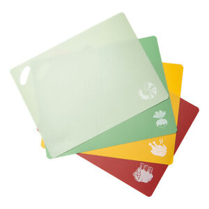 Epare Cutting Board Set of 4 Flexible BPA Free 10.8 in x 14 in Dishwasher Safe $10.99