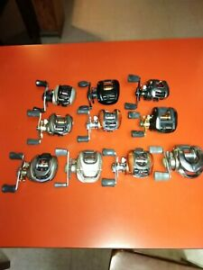 Lot Of 10 Used Fishing Reels please read description carefully.