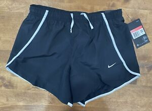 Nike Girls Dry Sprinter Athletic Running Shorts 938828 Black White Size Large $10.79