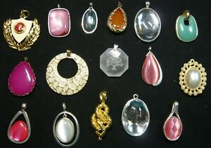 Jewelry Lot Necklace Pendants Bejeweled and Embellished