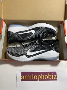 New Womens Size 10 Black White Nike Air Zoom Fearless FK 2 Training Shoes $59.95