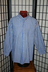 BROOKS BROTHERS SPORT SHIRT STRIPED LONG SLEEVE ALL COTTON MENS SIZE XL $11.04
