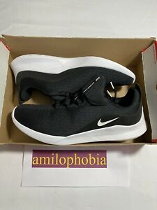 New Mens Size 12.5 Black White Nike Viale Running Shoes $54.45