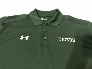 NWT under armour XL Polo Tigers Heatgear Men's Athletic Green $22.00