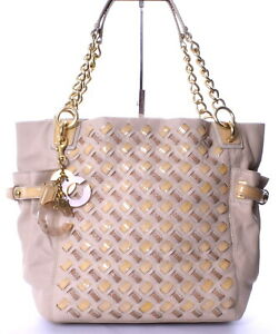 COACH Peyton Woven Cream Leather Limited Edition Tote Shoulder Bag 14527