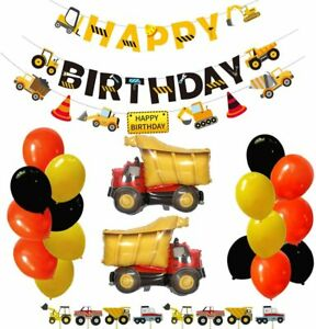 Construction Themed Birthday Party Supplies Construction Party Decorations Kits