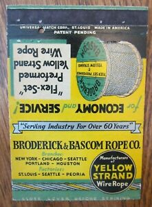 ROYAL FLASH: BRODERICK amp; BASCOM ROPE CO. NY CHICAGO HOUSTON PEORIA SEATTLE F19