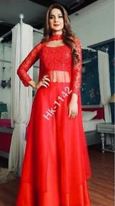 Palazo Suit Women Designer Long Kurti Salwar Kameez Wedding Fancy New Dress
