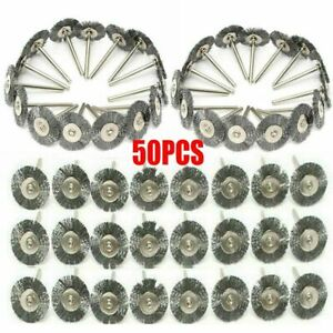 50pc Stainless Steel Wire Brush Fit Dremel Rotary Tool Die Grinder Removal Wheel $9.85
