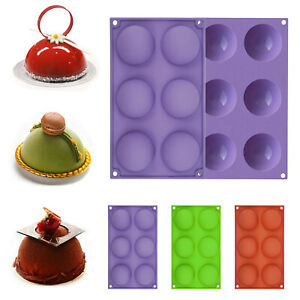 6 Holes Silicone Molds For Making Hot Chocolate Bomb Cake Jelly Dome Mousse USA $4.88