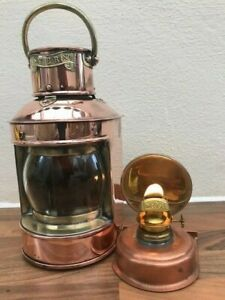 ANTIQUE SHIPS LIGHT. Stern Light by Davies London boat lamp yacht marine nauticl GBP 165.00