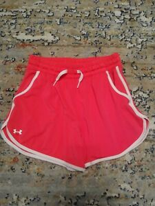Under Armour Shorts Womens XS Pink White Trim Pockets $13.00