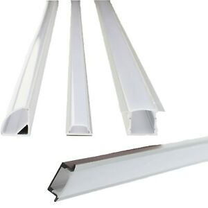 LED Strip Aluminum Channel 6 Pack Recessed U V Shallow Frost Cover End Cap