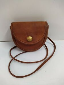Coach Vintage Small Brown Leather Crossbody Spring Lock Belt Bag Made in USA