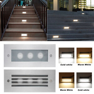 Waterproof LED Stair Step Well Light Outdoor In Ground Garden Pathway Wall Lamp $18.66