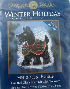 Mill Hill Winter Holiday Collection.... SCOTTIE.... Dog small kit 2014 $6.99
