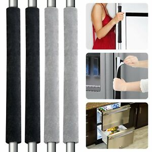2 Pack Refrigerator Door Handle Cover Kitchen Appliance Protector Smudges Decor