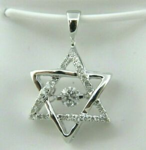 Engagement Wedding Star Of David Floating Diamond Pendant 14K Gold 2.8Ct Diamond
