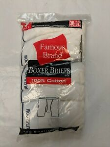 Fruit Of The Loom Famous Brands Bagged Boxer Briefs White 9 Pack $15.99