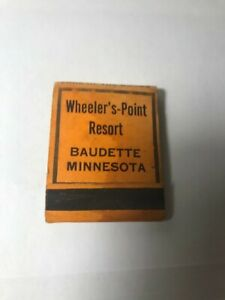 matchbook wheeler#x27;s resort BAUDETTE MINNESOTA BEST FISHING DUCK AND DEER HUNTING
