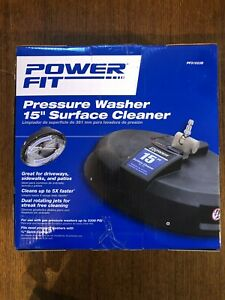 Power Fit Pressure Washer 15quot; Surface Cleaner 3300 Max Psi Fast Shipping $44.99