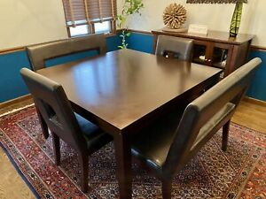 Dining Room Set Table Chairs Benches $400.00