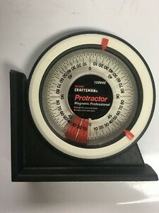 Craftsman Protractor Angle Finder w Magnetic Base amp; Back 939840 39840 USA $11.00