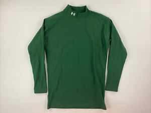 UNDER ARMOUR MENS XL LONG SLEEVE COMPRESSION SHIRT GREEN $18.00