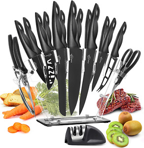 Knives Set Stainless Steel 18 Piece Cutlery Professional Kitchen Chef Knife Kit