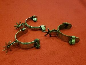 Western Mexican or Spanish riding spurs lot of 3