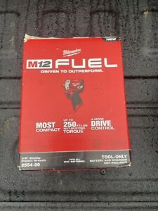 Milwaukee 2554 20 FUEL brushless 3 8 in. Stubby Impact Wrench New Bare Tool $150.00