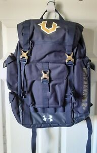 Rare Under Armour UA Storm Undeniable Cordura Navy amp; Gold Backpack NWOT $65.00