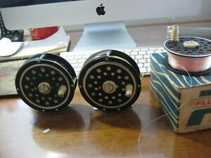 PFLUEGER FLY REELS 1495 1 2 2 WITH EXTRA SPOOL SA WF 6 AND SA WF7 SINK TIP