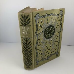 Essays Civil and Moral by Francis Bacon Vintage Philosophy Hardcover c1890 $10.00