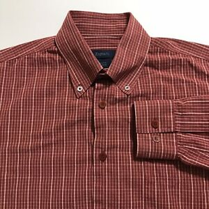 Zegna S Sport Shirt Long Sleeve Red Button Up 100% Cotton Italy Mens L Large $24.99