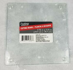 Cooking Concept Kitchen Square Cutting Trivet Board Tempered Glass 7.75 x 7.75quot; $4.99