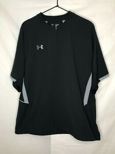 Under Armour Mens Loose Fit All Season Gear 1 4 Zip Shirt Black Size M Medium $17.99