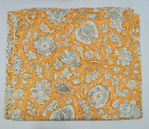 Indian 10 Yard Screen Print Sewing Cotton Fabric Running Loose New Craft Ethnic $39.99